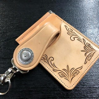 ケイシイズ(KC,s)のkc,s ケーシーズ レザー 二つ折り財布 マネークリップ(マネークリップ)