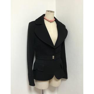 バレンシアガ(Balenciaga)のBALENCIAGA バレンシアガ 上質でシンプルな ショート コート ブラック(テーラードジャケット)