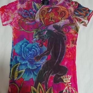 エドハーディー(Ed Hardy)のクリスチャンオードジェー!チュニックTシャツ!(Tシャツ(半袖/袖なし))