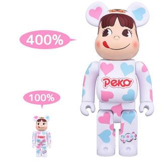 MEDICOM TOY - 新品 BE@RBRICK 着ぐるみペコちゃん ハート 100% & 400%