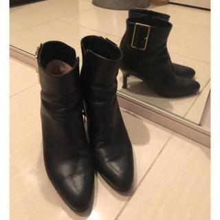 ペリーコ(PELLICO)のペリーコ ブーツ ドゥーズィエムクラス 38 黒 バックル(ブーツ)