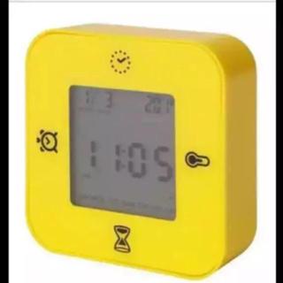 イケア(IKEA)の2コ⚪️IKEA   時計/温度計/アラーム/タイマー ◽️ 黄色と緑◽️(置時計)