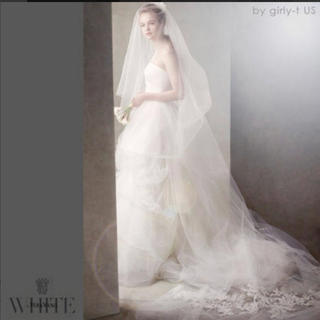 Vera Wang - white by verawang ヴェラウォン 2段お花刺繍ロングベール