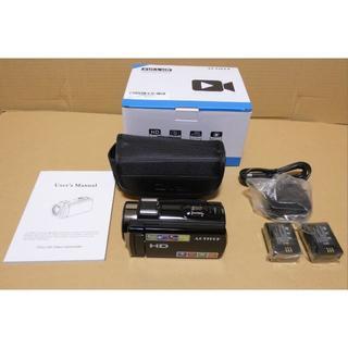 ビデオカメラ 2400万画素 HD1080P 16倍デジタルズーム(ビデオカメラ)