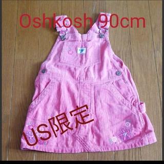 オシュコシュ(OshKosh)のOshkosh 花柄 ジャンパースカート オーバオール(ワンピース)