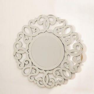 【デコラティブミラー】 壁掛け鏡 ウォールミラー ミラー(円)(壁掛けミラー)