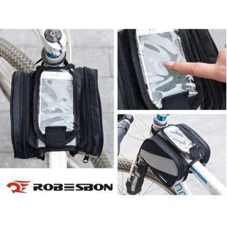 ++ 自転車 MTB・フレームバック 小物/スマホ入・大容量 防水・取付簡単++(バッグ)
