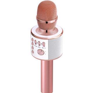 カラオケマイク ポータブルスピーカー 高音質カラオケ機器(マイク)