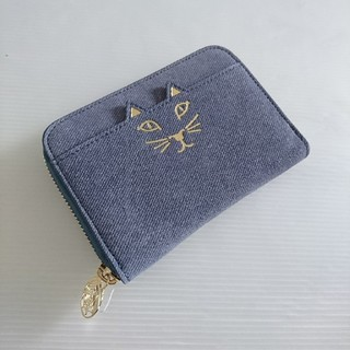 シャルロットオリンピア(Charlotte Olympia)の新品6.5万Charlotte OlympiaKITTYネコミニ財布ブルー(財布)