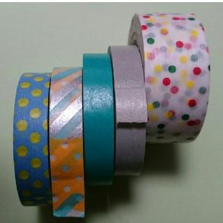 エムティー(mt)のmt マスキングテープ つぎはぎ ドロップ 5本セット(テープ/マスキングテープ)