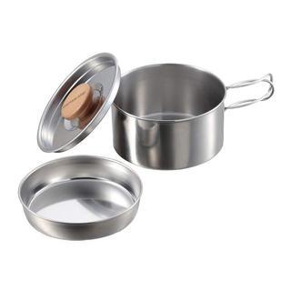 キャプテンスタッグ(CAPTAIN STAG) バーベキュー用 鍋 ステンレス (調理器具)