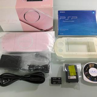 プレイステーションポータブル(PlayStation Portable)の新品同様 PSP-3000 ブロッサムピンク(携帯用ゲーム本体)