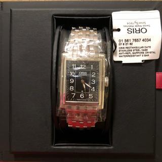 オリス(ORIS)のORIS レクタンギュラー ブラックダイヤルステンレススチールウォッチ【新品】(腕時計(アナログ))