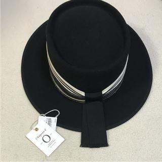 ドゥーズィエムクラス(DEUXIEME CLASSE)のシャポードオー帽子ブラック英文字入り(ハット)