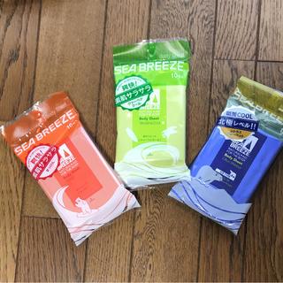 シーブリーズ(SEA BREEZE)のシーブリーズ ボディシート 3セット 新品未使用(制汗/デオドラント剤)