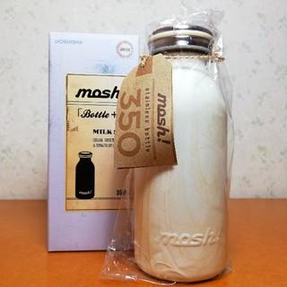ドウシシャ(ドウシシャ)のmosh! ボトル 350ml/木目調 ホワイト(タンブラー)