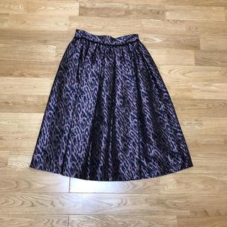 ウォール(WALL)のフリーマドンナ レオパード柄スカート(ひざ丈スカート)