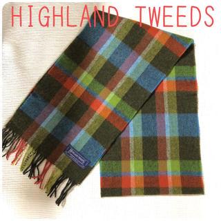 ハイランドクラブ(Hiland Club)の【美品】HIGHLAND TWEEDS チェックマフラー (マフラー/ショール)