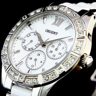 オリエント(ORIENT)のオリエント時計☆クリスタルを散りばめ文字盤に天然のシェルを採用!!ゴージャス(腕時計(アナログ))