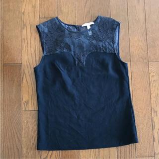 アーデム(Erdem)のアーデム ノースリーブウール 濃紺40(カットソー(半袖/袖なし))