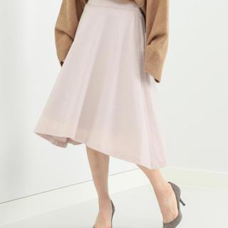 デミルクスビームス(Demi-Luxe BEAMS)のDemi-Luxe BEAMS / ウールビーバーアシメフレアースカート(ひざ丈スカート)