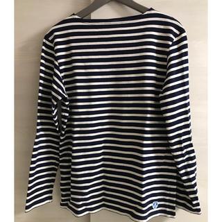 オーシバル(ORCIVAL)のORCIVAL ボーダーバスクシャツ ネイビーT4 Mサイズ(Tシャツ/カットソー(七分/長袖))