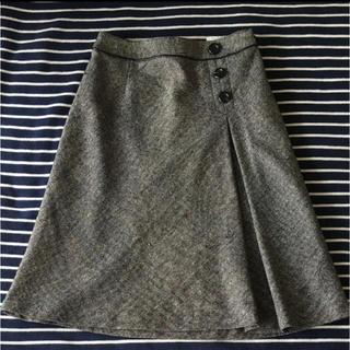 シーディーエスベーシック(C.D.S BASIC)のC.D.S BASIC膝丈ツイードスカート(ひざ丈スカート)