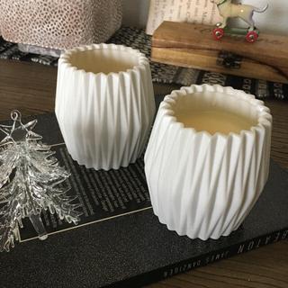 ザラホーム(ZARA HOME)のキャンドル2個/白(キャンドル)