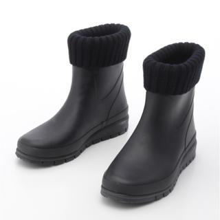 サヴァサヴァ(cavacava)の新品 定価9936円 cavacava 雨の日も安心♪ブーツ 黒 L 24cm(ブーツ)
