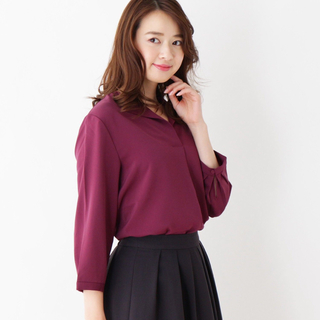 オペークドットクリップ(OPAQUE.CLIP)のオープンカラーデザインシャツ(シャツ/ブラウス(長袖/七分))
