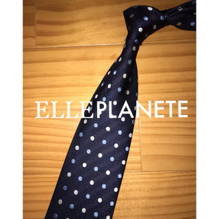 エルプラネット(ELLE PLANETE)の値下げ 超美品 エルプラネットネイビードット(ネクタイ)