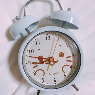 ♡.. しろたん目覚まし時計(置時計)