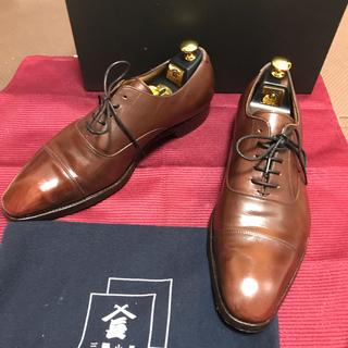 サンヨウヤマチョウ(SANYO YAMACHO)の三陽山長 靴紐とハーフラバー新品 UK8.5(ドレス/ビジネス)