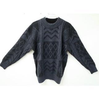 イッセイミヤケ(ISSEY MIYAKE)のISSEY MIYAKE イッセイミヤケ 総柄 セーター 日本製 M(ニット/セーター)