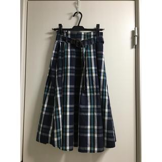 シマムラ(しまむら)のチェックスカート(ひざ丈スカート)