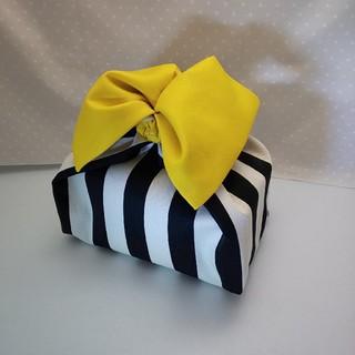 ハンドメイド☆お弁当袋 cubu長方形(大)黄色リボン(ランチボックス巾着)