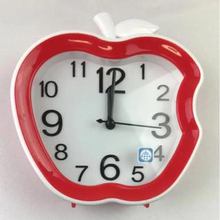 リンゴ りんご Apple デザイン 目覚まし時計 ⭕️訳あり品(置時計)