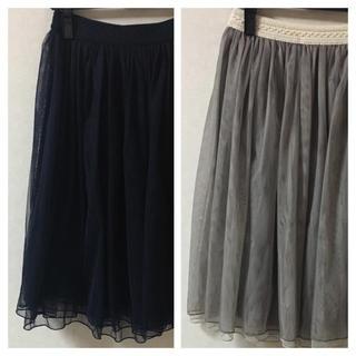シマムラ(しまむら)のしまむら♡チュールスカート2点セット(ひざ丈スカート)
