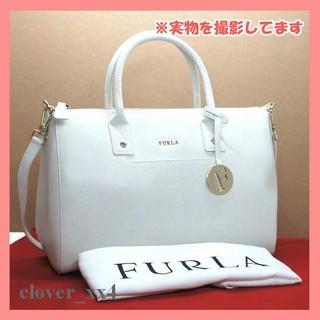 フルラ(Furla)のフルラ ショルダーバッグ 極 美品 ホワイト 白 レザー FURLA バッグ(ショルダーバッグ)