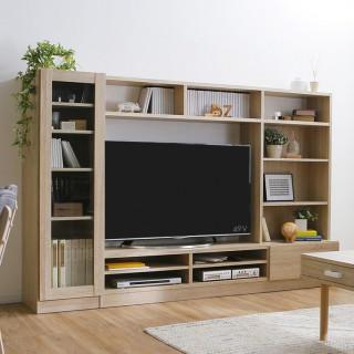 大型 壁面 テレビラック テレビボード オーク
