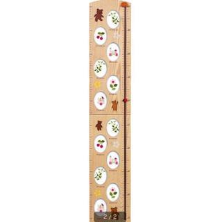 身長計 フォトフレーム付き木製子供身長計(フォトフレーム)