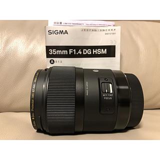 シグマ(SIGMA)のSIGMA art 35mm F1.4 DG HSM Canon用(レンズ(単焦点))