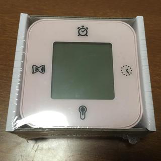 イケア(IKEA)のIKEA 目覚まし時計 ピンク 温度計 タイマー(置時計)