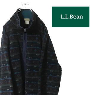 エルエルビーン(L.L.Bean)のビンテージ 古着 L.L.Bean エルエルビーン フリース フルジップ 総柄(ブルゾン)