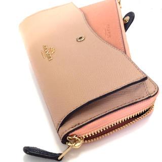 コーチ(COACH)のコーチ COACH 2way使用可能カードスロットが別にあり便利な長財布 ピンク(財布)