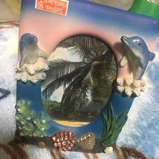 イルカ 写真たて 結婚式 子供 七五三 夏休み 沖縄 水族館 カメラ (写真額縁 )
