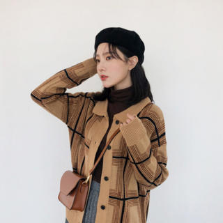 ロクロクガールズ(66girls)の66girls カーディガン ベージュ 韓国ファッション(カーディガン)
