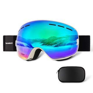 スキーゴーグル ダブル球面レンズ 100% UV400 紫外線カット レンズ着脱(その他)
