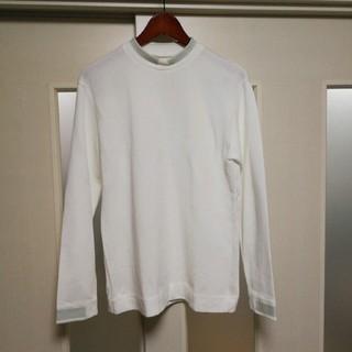 エヌハリウッド(N.HOOLYWOOD)のエヌハリウッド 16aw 長袖 ロンT カットソー ライン ホワイト 美品(Tシャツ/カットソー(七分/長袖))