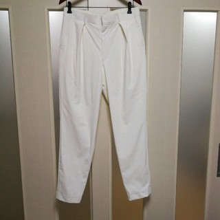 エヌハリウッド(N.HOOLYWOOD)のエヌハリウッド 16aw スラックス パンツ ストレッチ 1タック ホワイト (スラックス)